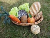 Pappmache-Obst-Gemüse-Gebäck
