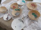 Schalen mit Fischmotiven