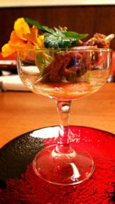 鴨肉の青りんごソース