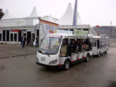 Messe Shuttle Bus, Energiesparmesse 2013 Wels, elektro shuttle bus