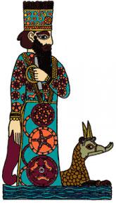 Marduk, dieu de Babylone, il devient le roi des dieux. idolâtrie à babylone