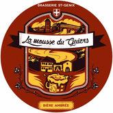 bière artisanale ambrée à boire avec la brioche aux pralinesz de saint genix sur guiers la mousse du guiers