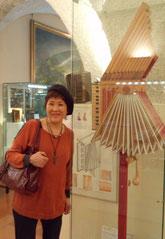 カステルフィダルドにあるアコーディオン博物館にて。