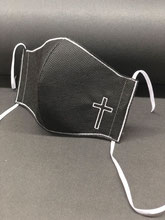 Alltagsmaske schwarz Kreuz