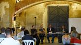 Inauguración en Seròs de la XV edición. En la mesa Guillem Chacon (director), Carles Barriocanal (ICTA-UAB), Jordi Carreras (Col·legi de Biòlegs de Catalunya) y Martí Boada (presidente de honor)