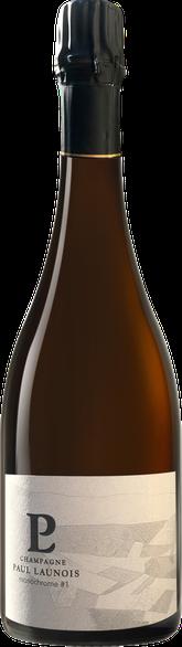 Bouteille de la cuvée Monochrome, champagne Grand Cru Blanc de blancs   Champagne Launois Paul @ Le-Mesnil-sur-Oger - Côte des Blancs (proche Épernay)