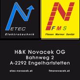 ETEC Novacek und FMS Novacek Logos