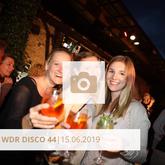 Logo WDR Disco 44 Juni 2019 Halle Tor 2, Die Halle Tor 2, Halle Tor 2, Party, Disko, Tanzen, Club, Kölner Nachtleben, Event, Veranstaltung heute, Musik, Eventlocation Köln