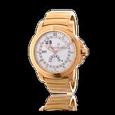 Handgefertigtes Uhren-Armband in Rotgold. Auf Kundenwunsch angefertigt, passend zur Armbanduhr Patravi von Carl F. Bucherer. Goldschmiede OBSESSION Zürich und Wetzikon