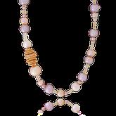 Collier aus Süsswasserperlen und Opalen mit einem Verschluss in Rotgold und Brillanten aus der Himalaja Kollektion der Goldschmiede OBSESSION Zürich und Wetzikon