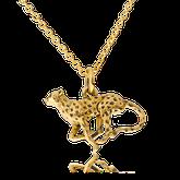 Anfertigung auf Kundenwunsch: Anhänger Gepard in Gelbgold von der Goldschmiede OBSESSION Zürich und Wetzikon