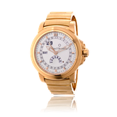 Armbanduhr in Rotgold von Carl E. Bucherer mit einem Armband von Goldschmiede OBSESSION Zürich und Wetzikon
