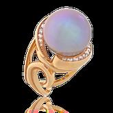 Ring in Rotgold mit Süsswasserperle und Brillanten aus der Gipsy Kollektion der Goldschmiede OBSESSION Zürich und Wetzikon