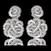Ohrhänger in Weissgold mit Brillanten aus der Unendlichen Geschichte Kollektion der Goldschmiede OBSESSION Zürich und Wetzikon