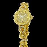 Damenuhr in Gelbgold mit Brillanten, speziel angefertigt von der Goldschmiede OBSESSION Zürich und Wetzikon