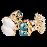 Anfertigung auf Kundenwunsch in Rotgold mit Mondstein und Tahiti-Perlen. Goldschmiede OBSESSION Zürich und Wetzikon
