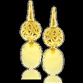Ohrhänger in Gelbgold mit Citrinen asu der Lilly Rose Exchangeables Kollektion der Goldschmiede OBSESSION Zürich und Wetzikon