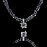Diamantencollier mit Anhänger in Weissgold und schwarzen Brillanten aus der Baby Gremlin Kollektion der Goldschmiede OBSESSION Zürich und Wetzikon