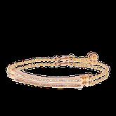 Armband in Rotgold mit Brillanten und pinken Saphiren aus der Baby Gremlin Kollektion der Goldschmiede OBSESSION Zürich und Wetzikon