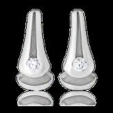 Ohrstecker in Weissgold mit Perlen und blauen Brillanten aus der Gremlin Kollektion der Goldschmiede OBSESSION Zürich und Wetzikon