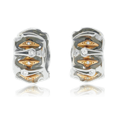 Kreolen in Weiss- und Rotgold mit Brillanten aus der Goldschmiede OBSESSION Zürich und Wetzikon