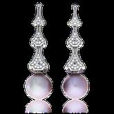 Ohrclips in Weissgold mit Ming-Perlen und Brillanten aus der Eternity Kollektion der Goldschmiede OBSESSION Zürich und Wetzikon