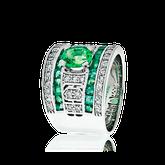 Spezialanfertigung Smaragd und Diamant Schmuck Ring von der Goldschmiede OBSESSION Zürich und Wetzikon