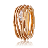 Schmuckring in Rotgold mit Brillanten aus der Himalaja Kollektion der Goldschmiede OBSESSION Zürich und Wetzikon