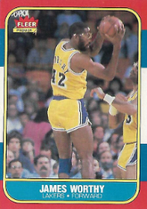JAMES WORTHY / Fleer 86/87 - No. 131 of 132
