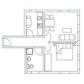 Grundriss Loft B im Strandloft 2 auf Norderney © copyright ferienwohnungen-norderney-ferienhaus.de