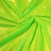 joustava kangas Metallic Verkko Powernet Hopea Flo Green Vihreä