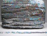 Paljettinauha joustava 12mm holo hopea