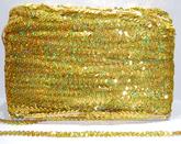 Paljettinauha joustava 12mm holo kulta