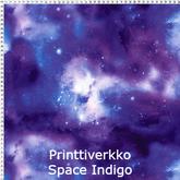 joustava kangas printti verkko net space indigo