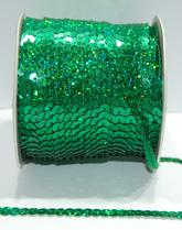 Paljettinauha joustamaton 6mm holo vihreä