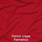 joustava kangas lycra dance crepe punainen