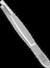 TopInox Pinzette schräg mit polierter Spitze