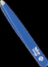 пинцет линейки TopInox, скошенные края, синий лак