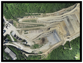 Aerial surveys in the mining and quarie sectors can produce 3D models and because the images are geo-referenced, measurements such as length, area and volume can be calculated.