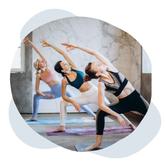 yoga sur tapis en entreprise