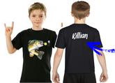 tee-shirt personnalisé garçon pêcheur
