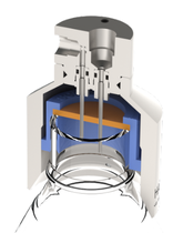 Liquid sampling - Inline liquid bottle sampler - Flow thru liquid sampler with bottle cap septa - Liquid Sampler configuration - Mechatest Bottle Sampler MBS