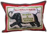 Gute Worte Kissen mit Elefant und Werbebanner