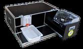 iQ-Chuckbox mit faltbaren Windschutz, Kocher, 10 Liter Wasserkanister, Wasserauffangschale, Auslaufhahn