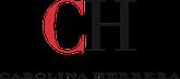 Logo Brand Carolina Herrera, grosse Buchstaben rotes C, schwarzes H
