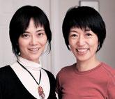 パートナーの田平恵美(右)と