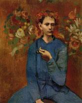 パブロ・ピカソ「パイプを持つ少年」(1905年)