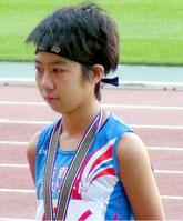 3位入賞と県中学の新記録を出した川本莉子(提供写真)