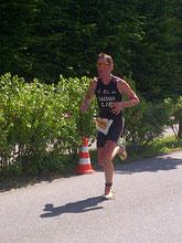 Daniel Gassner auf der Laufstrecke