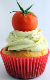 Caprese-Cupcake, Tomaten-Mozzarella-Cupcake